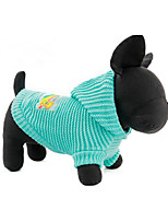 Dog Sweater Dog Clothes Casual/Daily Solid Blushing Pink Blue Yellow