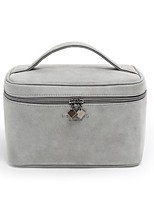 Women Cosmetic Bag Nylon All Seasons Casual Square Zipper Gray