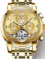 Per uomo orologio meccanico Carica automatica Acciaio inossidabile Banda Nero Oro