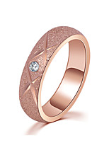 Women's Ring Rose Gold AAA Cubic Zirconia Simple  Elegant Ring Jewelry For Wedding Anniversary Party/Evening Engagement Ceremony