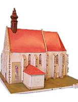 Puzzles Kit de Bricolage Puzzles 3D Blocs de Construction Jouets DIY  Moulin à vent Bâtiment Célèbre Maison Papier cartonné