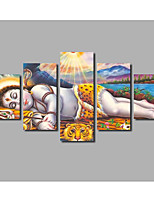 Brand New Painting on Canvas Sleeping Buddha Animal Lion Posters For Livingroom Wall Decoration HD Printed Home Decor Art Prints