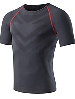 Homme Manches Courtes Course / Running Tee-shirt Shirt Fitness, course et yoga Séchage rapide Des sports Toutes les SaisonsVêtements de