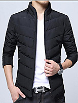 Men's Padded Coat,Simple Active Daily Casual Solid-Cotton Polyester Polyester Cotton Long Sleeve