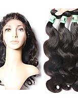Ciocche con tessitura Indiano Ondulato naturale 4 pezzi tesse capelli