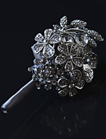 Luxury Diamond High-Grade Grey Groom Brooch