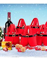 Acessórios do partido Bolsas de Ofertas Ornamentos Natal Presentes de Natal Férias Tecido Felpudo 1 Peça