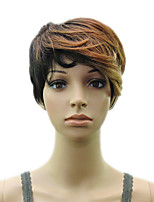 Synthetic Muti Color Blonde Wig Woman  Layered Curly Short  Hair  Wigs