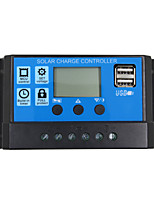 24V 12V Auto Solar Panel Battery Charge Controller  10A PWM LCD Display Solar Collector Regulator with Dual USB Output