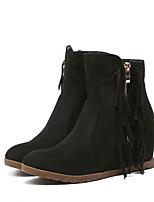 Women's Boots Comfort Cowhide Spring Casual Comfort Brown Black 2in-2 3/4in