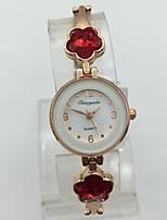 Women's Fashion Watch Bracelet Watch Quartz Alloy Band Sparkle Casual Rose Gold