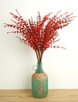 10 предметов 10 Филиал Полиэстер Pастений Букеты на стол Искусственные Цветы