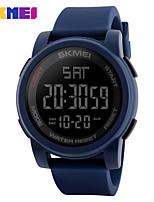 SKMEI Homens Relógio Esportivo Relogio digital Digital PU Banda Preta Azul Verde