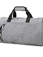 Unisex Travel Bag Polyester All Seasons Casual Outdoor Cuboid Zipper Gray Black