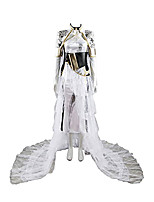 Inspired by Final FantasyXV 15 Lunafreya Nox Video Game Cosplay Costumes Cosplay Suits Solid Color Long Sleeve Dresses Waist Accessory