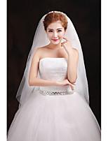 Wedding Veil One-tier Blusher Veils Elbow Veils Lace Applique Edge Tulle