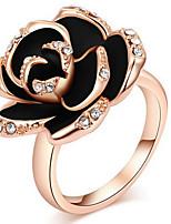 Per donna Struttura dell'anello Fedine Anello StrassClassico Originale Floreale Amicizia stile sveglio Euramerican Gioielli film Gioielli
