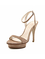 Для женщин Обувь на каблуках Туфли лодочки Кожа Лето Для праздника Туфли лодочки На шпильке Черный Телесный 9,5 - 12 см