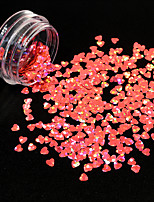 1g/Bottle Nail Art Starry Glitter Shining Sequins Cute Heart Shape DIY Beauty Thin Paillette Beautiful Brick-red Design Decoration 1209W