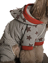Dog Hoodie Dog Clothes Casual/Daily Stripe Ruby