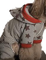 Hund Kapuzenshirts Hundekleidung Lässig/Alltäglich Streifen Rot