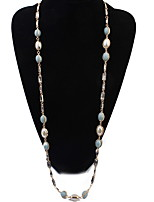 Femme Colliers chaînes Colliers/Sautoir Perle Perle imitée Chaîne unique Forme Géométrique Perle Résine AlliageBasique Original Acrylique