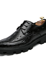 Men's Oxfords Clogs & Mules Spring Fall PU Wedding Outdoor Office & Career Casual Party & Evening Flat Heel Others Black