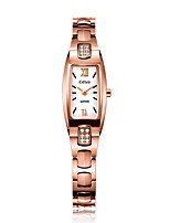 Women's Fashion Watch Bracelet Watch Quartz Water Resistant / Water Proof Alloy Band Rose Gold