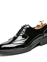 Men's Shoes Synthetic Microfiber PU Spring Fall Formal Shoes Driving Shoes Oxfords Lace-up For Casual Party & Evening Outdoor Office &