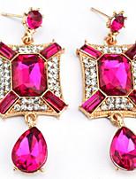 Drop Earrings Women's Euramerican Fashion Luxury Geometric Rhinestone Drop Dangle Earrings Movie Jewelry Party Daily
