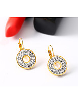 Women's Earrings  Vintage  Elegant Rhinestone Titanium Steel 18K gold Earrings Jewelry For Wedding Anniversary