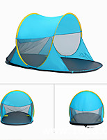 5-8 persons Tent Double Family Camping Tents Three Rooms Camping Tent >3000mmAluminium Alloy PU Leather/Polyurethane Leather Oxford