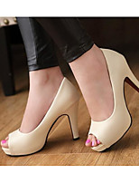 Women's Sandals Comfort Spring PU Casual White Black Beige Flat