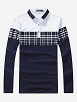 Men's Sports Plus Size Holiday Going out Casual/Daily Work Club Simple Street chic Active Spring Fall Polo,Solid Striped Color Block