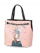 Women Shoulder Bag PU All Seasons Casual Outdoor Square Zipper Blushing Pink White