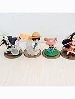 Figures Animé Action Inspiré par One Piece Monkey D. Luffy PVC 7 CM Jouets modèle Jouets DIY
