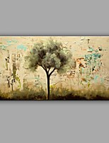 Hand-Painted Knife Green Life Tree Oil Painting Wall Art With Stretcher Frame Ready To Hang
