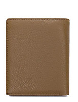 Men Money Clip Cowhide All Seasons Casual Square Zipper Khaki