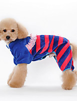 Dog Clothes/Jumpsuit Dog Clothes Casual/Daily Stripe Orange Blue Blushing Pink