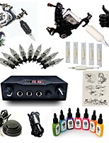 Basekey High Born Tattoo Kit I026-G2A6A2W 2 Machines With 7 Inks Power Supply 10 PCS Needles