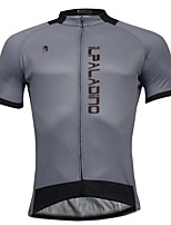 Breathable And Comfortable Paladin Summer Male Short Sleeve Cycling Jerseys DX772 Gray