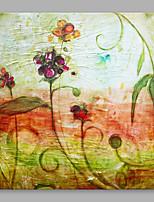 Pintados à mão Abstrato Abstracto Moderno/Contemporâneo Escritório/Negócio Alta qualidade 1 Painel Tela Pintura a Óleo For Decoração para