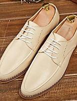 Da uomo scarpe da sposa Comoda Pelle Primavera Autunno Matrimonio Casual Comoda Bianco Giallo Chiaro Blu Piatto
