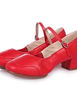 Для женщин Танцевальные кроссовки Полиуретан На плоской подошве На каблуках Тренировочные Черный Серебряный Красный