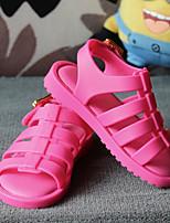 Девочки Сандалии Удобная обувь Полиуретан Лето Повседневные Удобная обувь Черный Пурпурный Розовый На плоской подошве