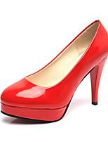 Feminino Saltos Sapatos formais Couro Ecológico Verão Outono Casamento Social Festas & Noite Sapatos formais Salto AgulhaBranco Preto