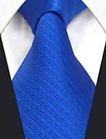 CXL32 Extra Long Fashion Classic Business Men Neckties Blue Solid 100% Silk Unique Handmade