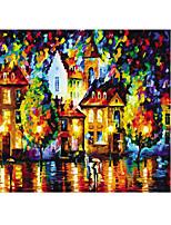 Jigsaw Puzzles Jigsaw Puzzle Building Blocks DIY Toys Lantern House Cartoon Wooden