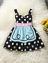 Girl's Fashion Polka dots Dress,Cotton Polester/Cotton Blend Summer Sleeveless