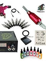 1 Set High Born Tattoo Kit HR5 Rotary Machine With 7x15ML Inks 5 Needles Power Supply Switch
